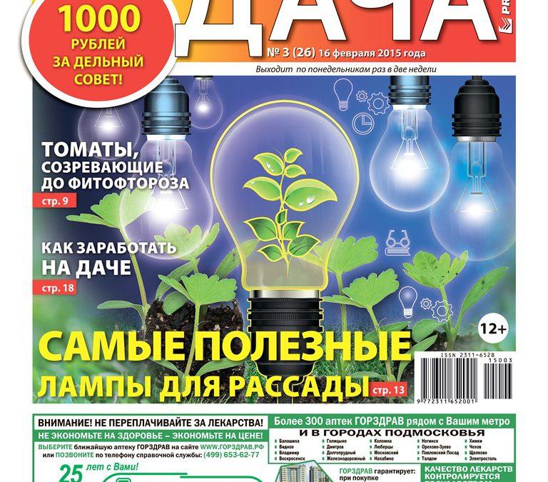 №3(26). Самые полезные лампы для рассады