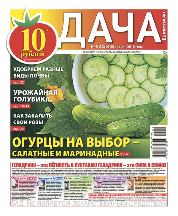 №8 (56) Огурцы на выбор - салатные и маринадные
